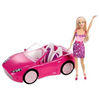 mattel y7056 la voiture cabriolet de barbie poup e. Black Bedroom Furniture Sets. Home Design Ideas