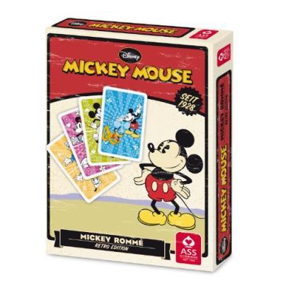 Ass altenburger 22500200 disney mickey mouse édition rétro jeu de cartes pour jouer au rami