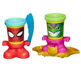 Pâte à modeler PlayDoh : Pots Marvel : Spiderman & Green Goblin Play-Doh - Pâte à modeler pour ...