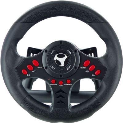 Subsonic - volant racing wheel universalavec palettes de changement de vitesses et pédalier pour playstation 4 – ps4 slim – ps4 pro - xbox one - ps3