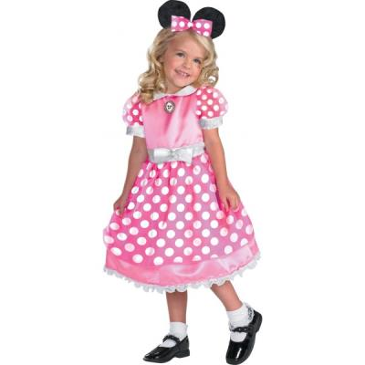 Costume de Minnie Mouse Clubhouse rose haut de gamme pour fille - 4-6 ans