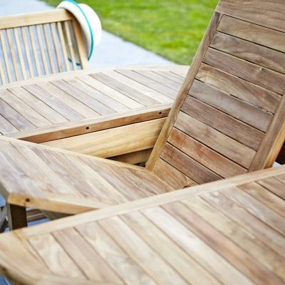 Salon de jardin en Teck brut Qualité Grade A 6/8 pers - GardenAndCo ...