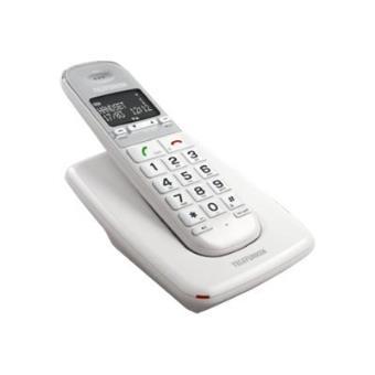 Téléphone fixe TELEFUNKEN TD301W BLANC SOLO SANS REPONDEUR