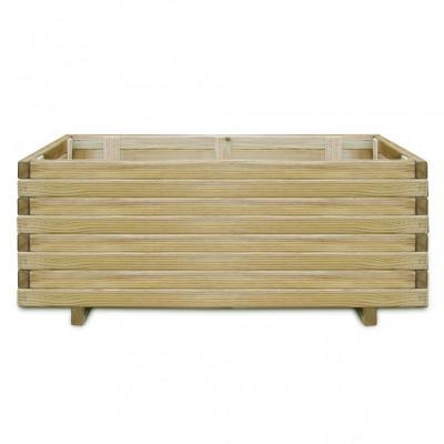 Jardinière en bois rectangulaire 100 x 50 x 40 cm