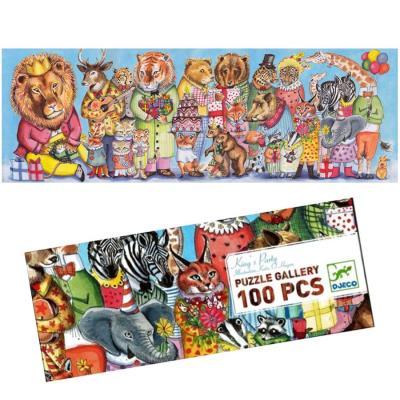 Puzzle Djeco Gallery King's Party 100 pièces pour enfants dès 5 ans