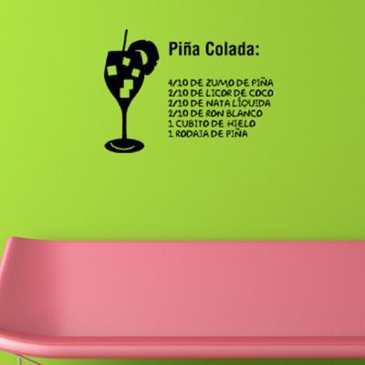 Pick and Stick Sticker Mural déco Pinacolada - 55 x 75 cm, Noir