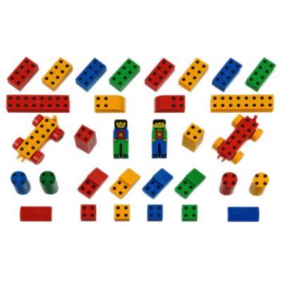 Klein - 0650 - jeu de construction - set ecole manetico 32 pièces, sous sachet