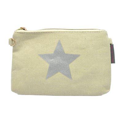 Pochette beige étoile - collection cmlpb
