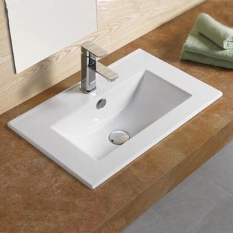 vasque encastrable 60x40 cm cramique compact installations salles de bain achat prix fnac