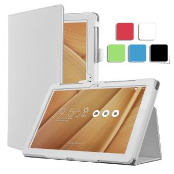 housse asus zenpad z300m 10 pouces cuir blanche avec stand etui coque blanc de protection. Black Bedroom Furniture Sets. Home Design Ideas