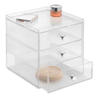 acheter populaire c3b2d 35e5d Boîte de rangement superposable 3 tiroirs - Transparent - Grand modèle