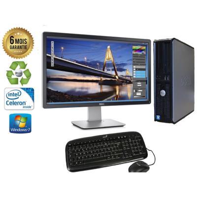 Unite Centrale Dell Optiplex 380 SSF Intel Celeron E3300 2,5Ghz Mémoire Vive RAM 2GO Disque Dur 320 GO Graveur DVD Windows 7 - Ecran 24(selon arrivage) - Processeur Intel Celeron E3300 2,5Ghz RAM 2GO HDD 320 GO Clavier + Souris Fournis