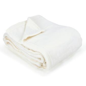 couverture polaire 240x260 cm microfibre 280 g m2 apollo blanc naturel achat prix fnac. Black Bedroom Furniture Sets. Home Design Ideas