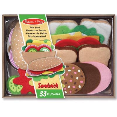 Set Sandwich jouet en feutre 33 pcs dinette Enfants 3 ans +