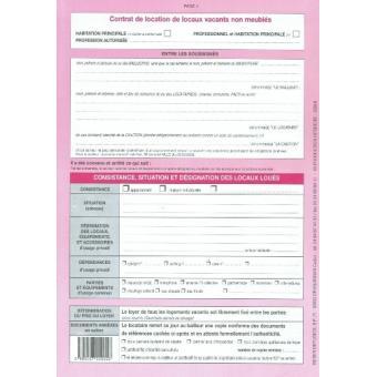 Liasse de 2 contrat de location de locaux vacants non meubl s weber 711 carnets et journaux - Contrat de location non meublee gratuit ...