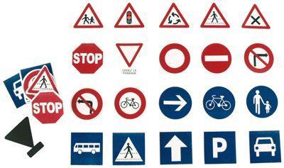 Oz International - Panneaux Routiers Magnétiques - Lot De 40