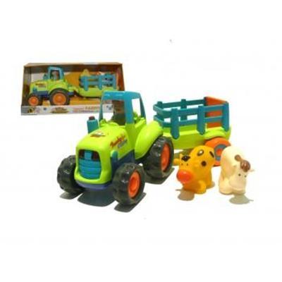 Tracteur avec remorque sons et lumières avec animaux IMAGIN