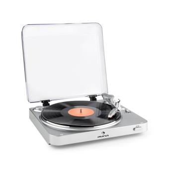 auna tt 30 bt platine vinyle tourne disque bluetooth line out rca usb argent cha ne hi fi. Black Bedroom Furniture Sets. Home Design Ideas