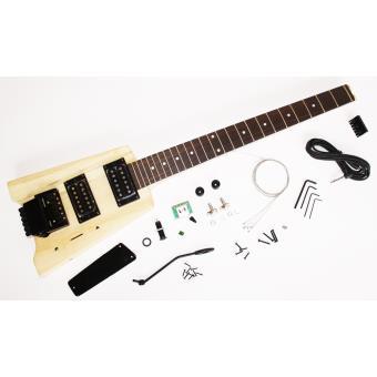 guitare electrique headless noire sans t te finir soi m me neuve garantie guitare. Black Bedroom Furniture Sets. Home Design Ideas