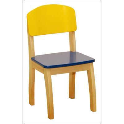 Roba 50778 Chaise pour enfants en bois naturel et coloré