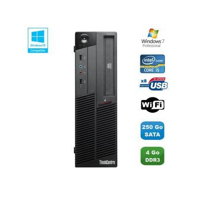 Processeur : Intel Core i5-650 3.2GHz (Turbo 3.46Ghz) - 2 Coeurs (4 Threads) - Cache 4 Mb - Socket 1156 Mémoire Vive : 4 Go - DDR3 Disque dur : 250 Go SATA Lecteur optique : Graveur DVD Contrôleur graphique : Intel® HD Graphics Réseau : 10/100/1000 MBit/s