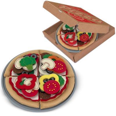 Set Pizza en feutre 40 pcs Jouets pour la dinette Enfants 3 ans +