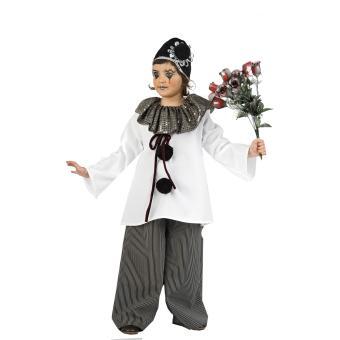 deguisement carnaval costume pierrot enfant 7 9 ans 120 132 cm d guisement enfant. Black Bedroom Furniture Sets. Home Design Ideas