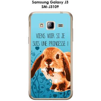 Coque Samsung Galaxy J3 - SM-J3109 design Lapin Princesse