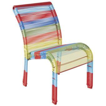 Chaise Enfant Multicolore En Polyresine Et Metal Laque