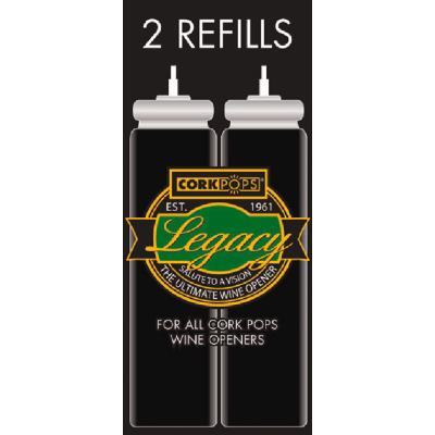 OENOPRO - Lot de 2 recharges de gaz pour tire-bouchon à gaz Pop Luxe ACI-OEN300 - ACI-OEN300R