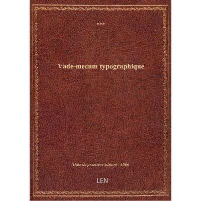 Vade-mecum typographique