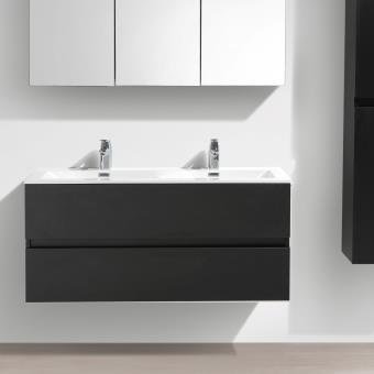 Meuble salle de bain design double vasque siena largeur 120 cm chêne ...