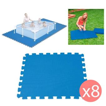 8 dalles tapis de sol modulable pour piscine 50 cm x 50 cm accessoires piscines spa et. Black Bedroom Furniture Sets. Home Design Ideas