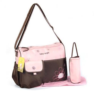 Gmmh - sac à langer bébé rose marron 3 pièces couleur au choix