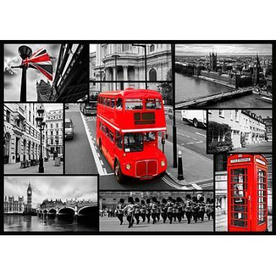 Trefl - Puzzle 1000 pièces - Londres : Collage