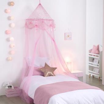 ciel de lit fille princesse rose avec toiles ciel de lit achat prix fnac - Lit Fille