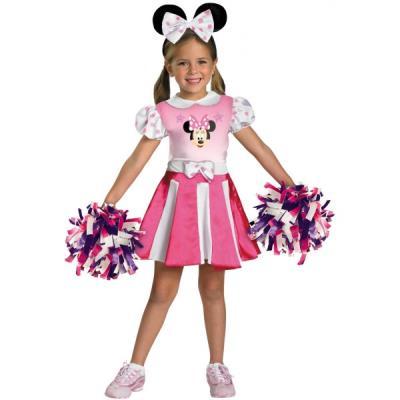 Costume de Minnie Mouse Clubhouse pom-pom girl pour fille - 3-4 ans