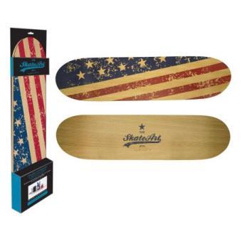 Etagère skateboard murale grand modèle   USA   Décoration murale