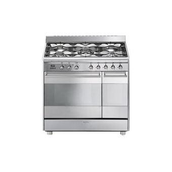 nouveau produit d6b51 13cb3 Smeg SCB92PX8 - cuisinière - pose libre - 90 cm - inox