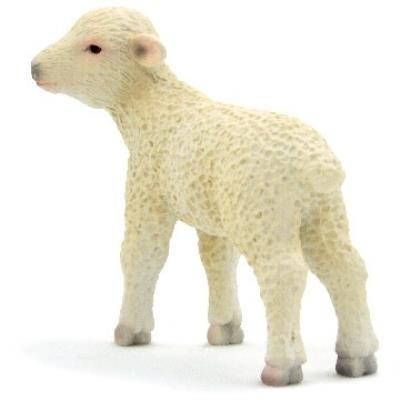 Mgm - 387098 - figurine animal - agneau blanc petit modèle - 6,5 x 4,5 cm animal planet ft-7098