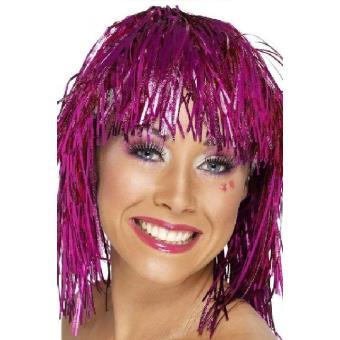 Mondial-fete - Perruque disco métal rose