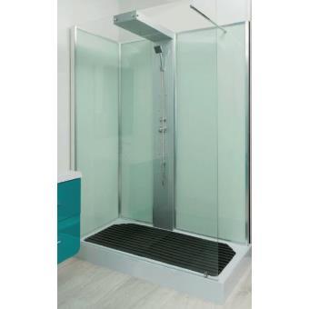 Aqua Cabine De Douche Ouverte A L Italienne Transparente 80x140