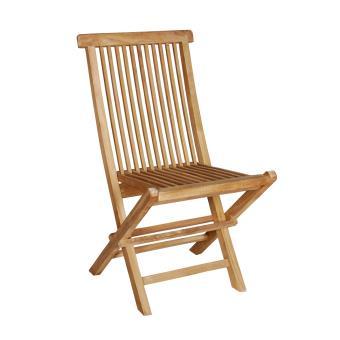 Chaise de jardin en Teck brut Qualité Grade A pliant -e GardenAndCo ...