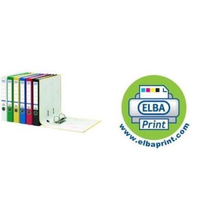 Elba - classeur rado colour, dos: 80 mm, rouge,format a4 reliure extérieure intérieure en papier, étiquette de dos collée, ave