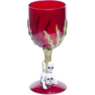 verre à pied tête de mort - rouge - achat & prix | fnac