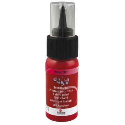 Peinture pour tissu - Rouge - 29 ml
