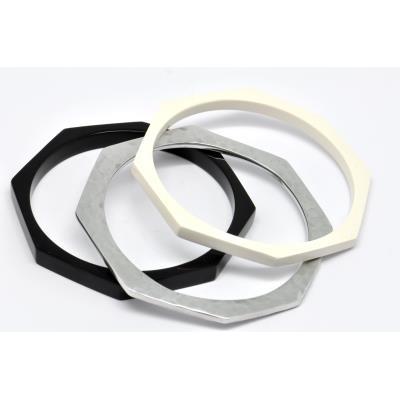 Bracelet triple résine et métal - Culture Mix