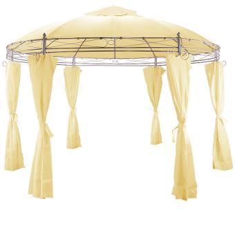 Tonnelle Toscana Beige 3,5 m - Pavillon - Tente de jardin - Barnum ...