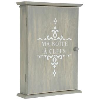 boite armoire cl s murale rangement des clefs en bois achat prix fnac. Black Bedroom Furniture Sets. Home Design Ideas