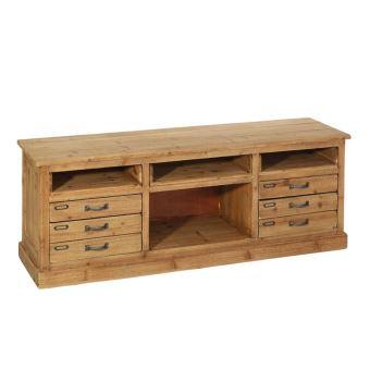 meuble tv 4 niches 4 tiroirs brutus achat prix fnac